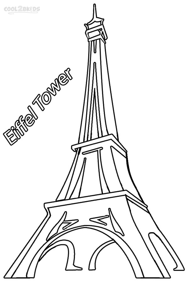 printable eiffel tower coloring for kids illuminated letter craft free vintage maps coloring pages Eiffel Tower Coloring Page