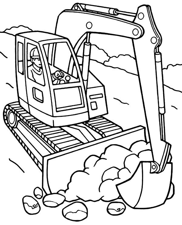 printable excavator coloring topcoloringpages net to print purchase direct marvel coloring pages Excavator Coloring Page