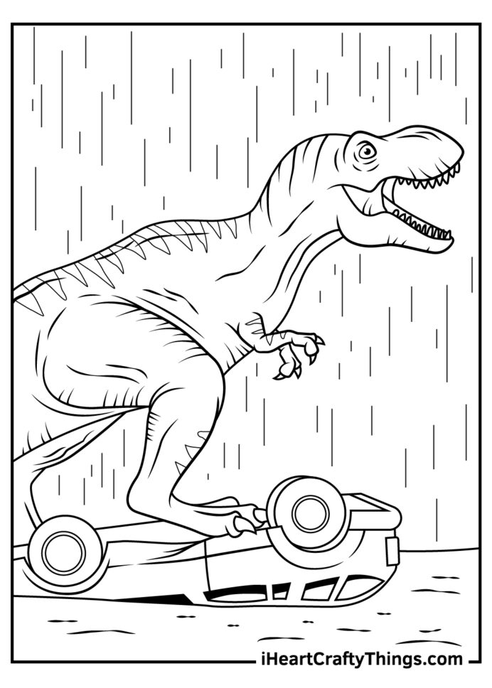 printable jurassic coloring updated creative activity for kids colorable dinosaur and coloring pages Jurassic Park Coloring Page