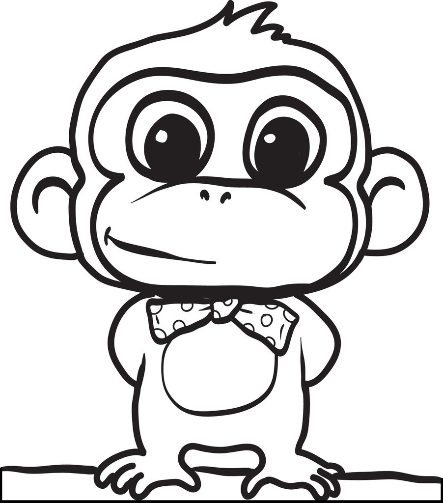 printable monkey coloring for kids supplyme 1024x1024 thanksgiving outline like water and coloring pages Monkey Coloring Page