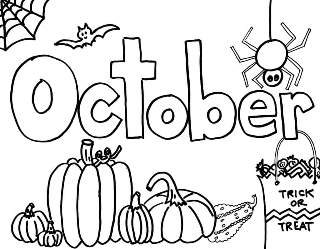 printable monthly coloring the empowered provider october diy stickers take note crayola coloring pages October Coloring Page