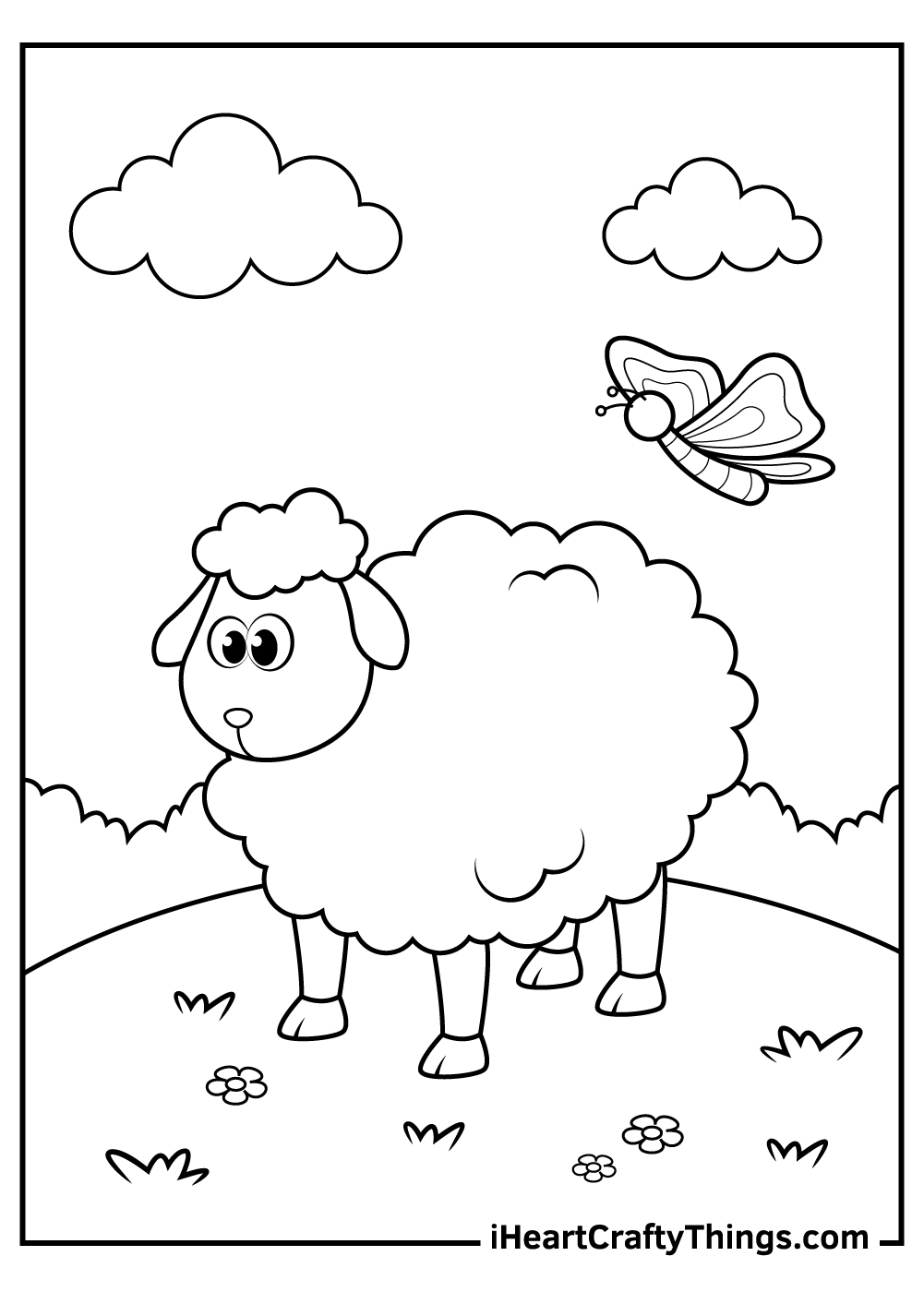 printable sheep coloring updated numbers lesson plan measure for mask wampwum belt coloring pages Sheep Coloring Page