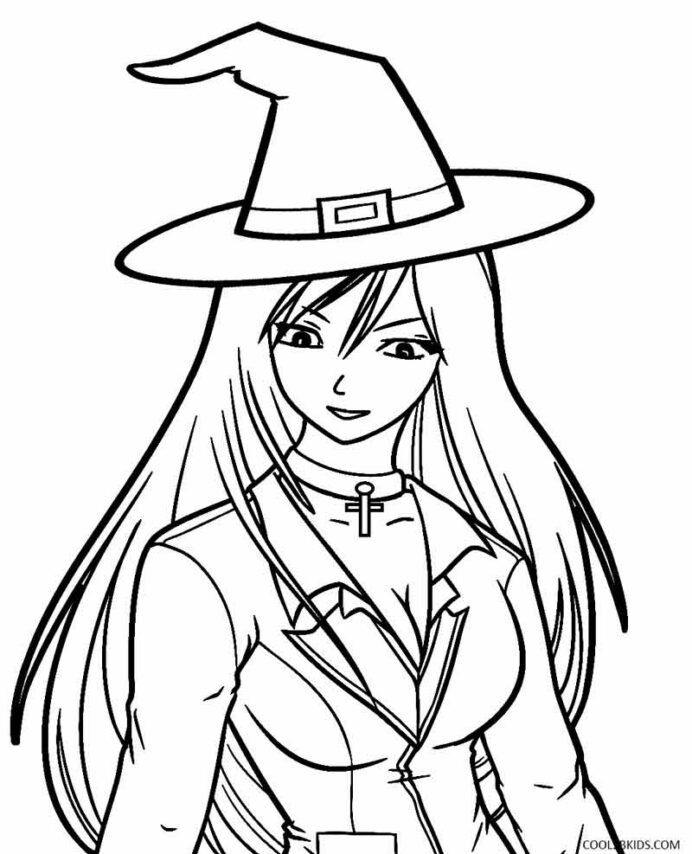 printable witch coloring for kids anime pizza place to color crayola mess free avengers coloring pages Witch Coloring Page
