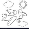 propeller plane coloring royalty free vector image airplane adult color books foldable coloring pages Coloring Page Airplane
