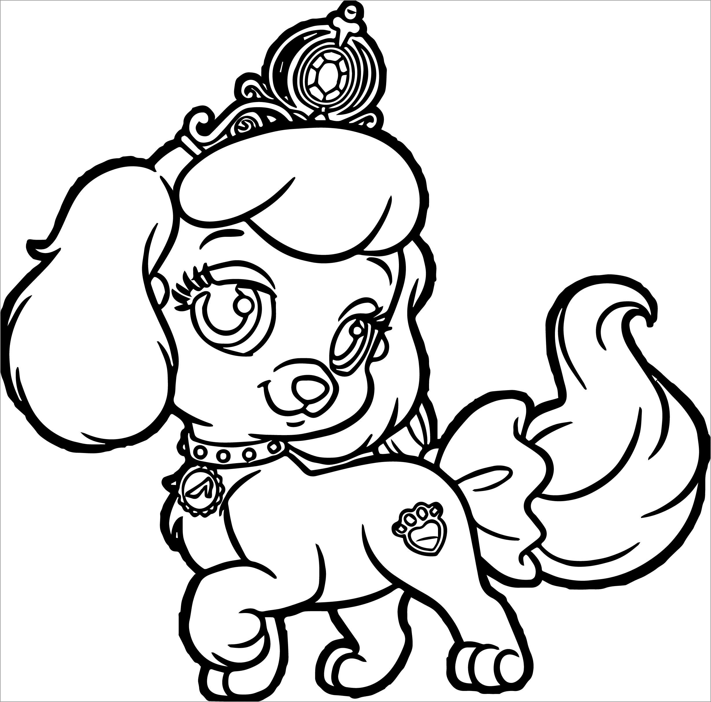 puppy princes coloring for girls coloringbay crayola phone number crossword dry erase coloring pages Puppy Coloring Page
