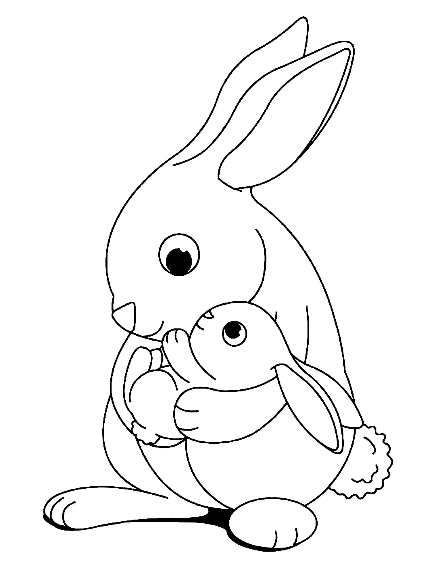 rabbit to print for free kids coloring bunny children discover fun crafts water art coloring pages Bunny Coloring Page