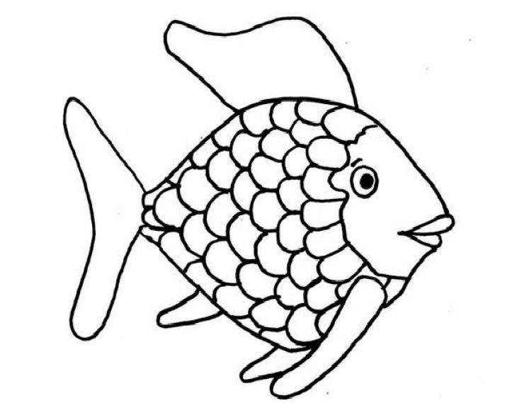rainbow fish coloring preschoolers and malvorlagan working together lesson plan easy coloring pages Rainbow Fish Coloring Page
