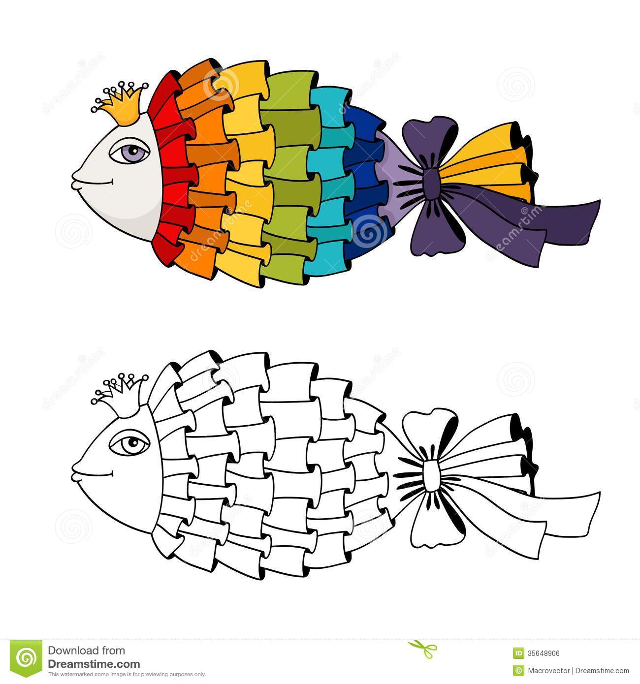 rainbow fish coloring stock vector illustration of scrapbook isolated human skull to coloring pages Rainbow Fish Coloring Page