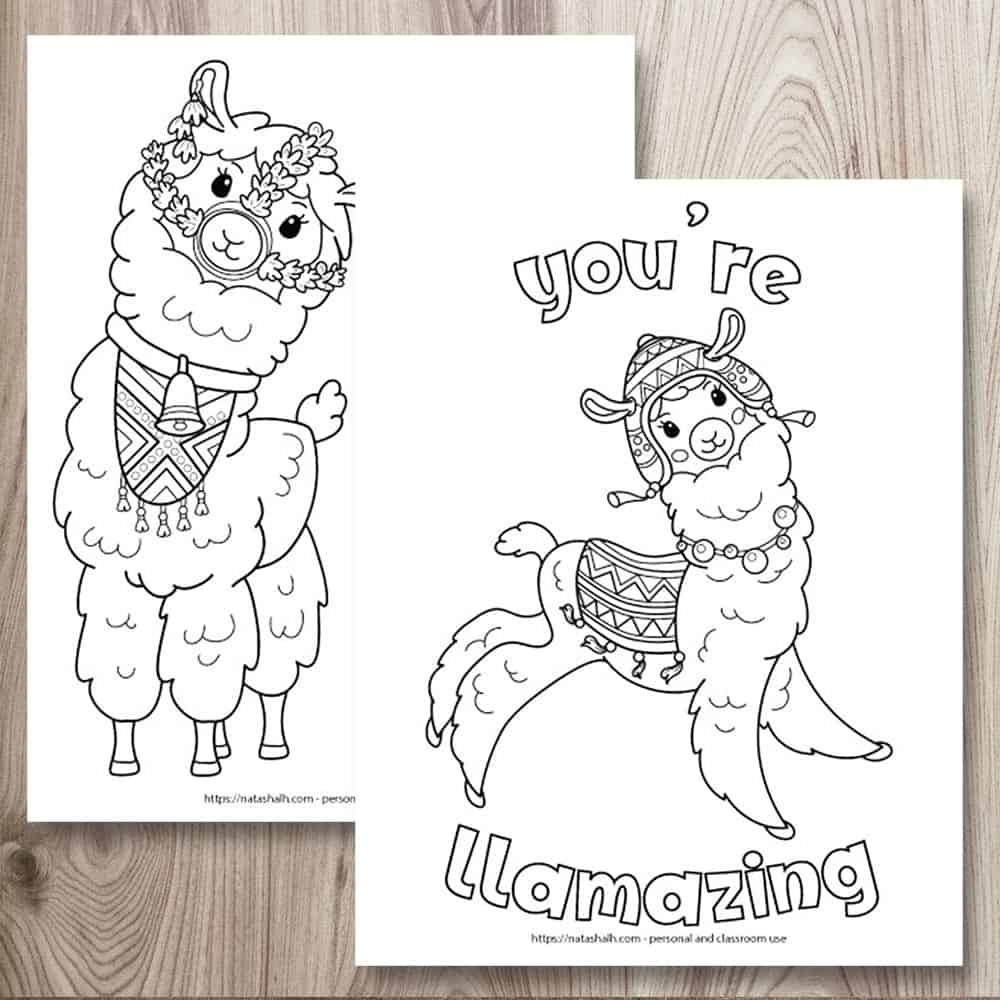 ridiculously cute llama coloring for kids teens the artisan life free printable turtle to coloring pages Llama Coloring Page