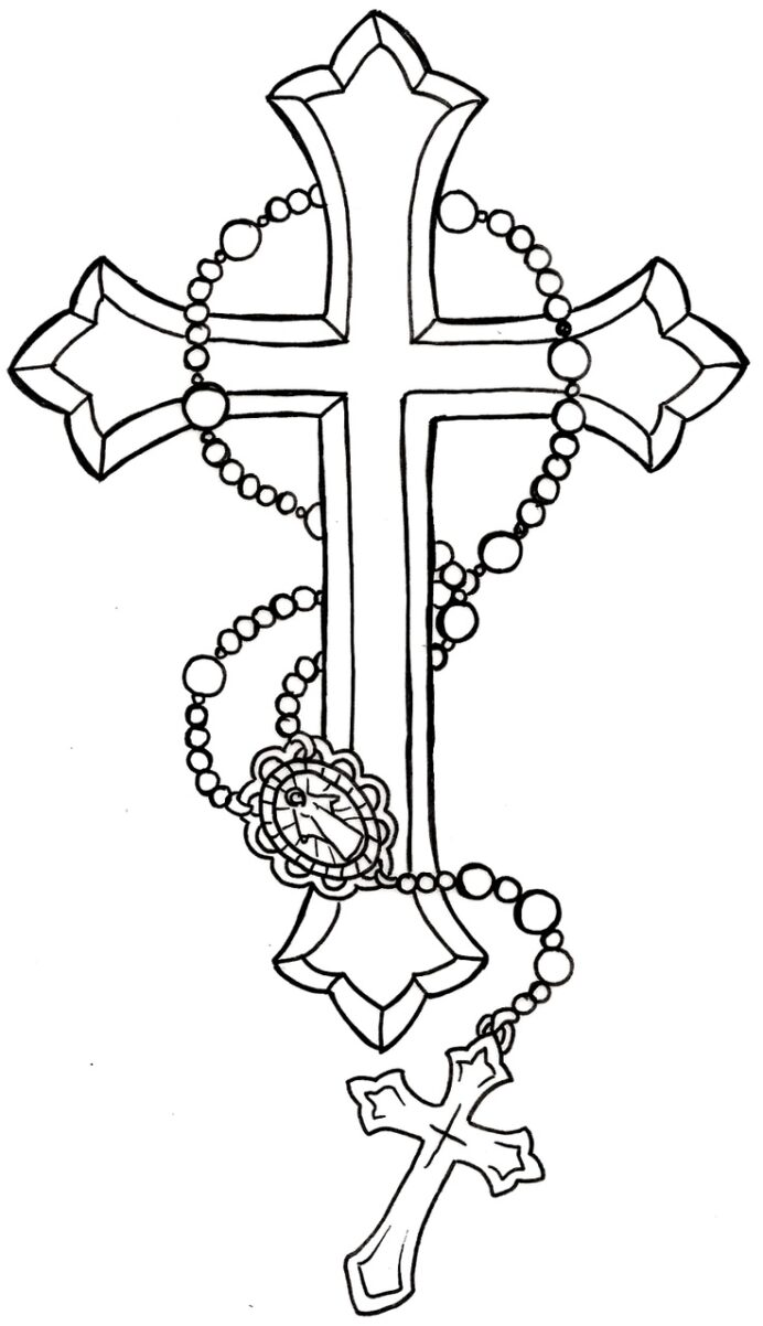 rosary coloring best for kids beautiful printable mickey mouse christmascoloring sheet coloring pages Rosary Coloring Page