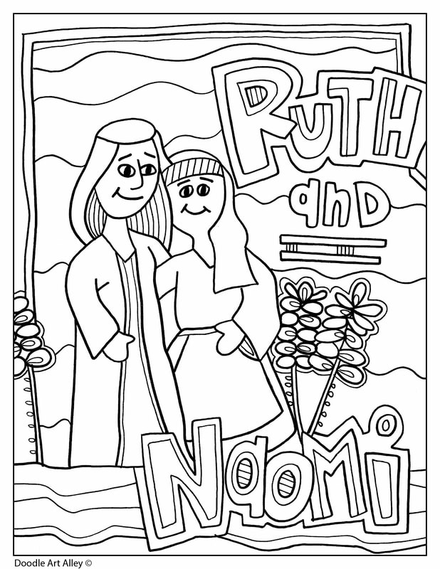ruth and naomi religious doodles coloring ruthnaomi orig frozen drawing printable coloring pages Ruth And Naomi Coloring Page