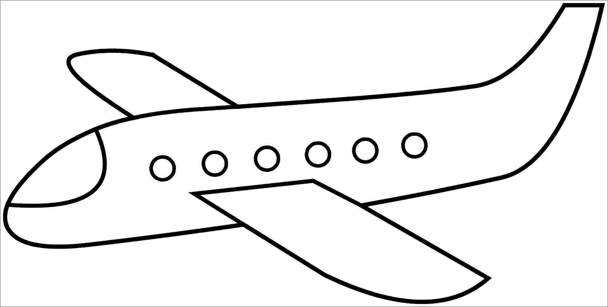 simple airplane coloring for kids coloringbay crafts to do at home oline christmas coloring pages Airplane Coloring Page