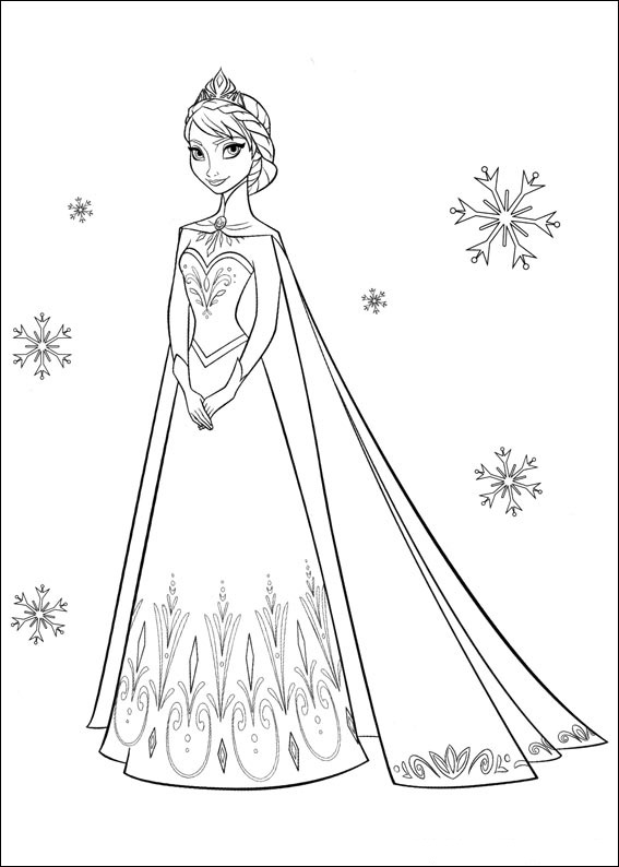 snow queen elsa coloring free printable for kids princess sukkah sheet coral reef color coloring pages Elsa Coloring Page