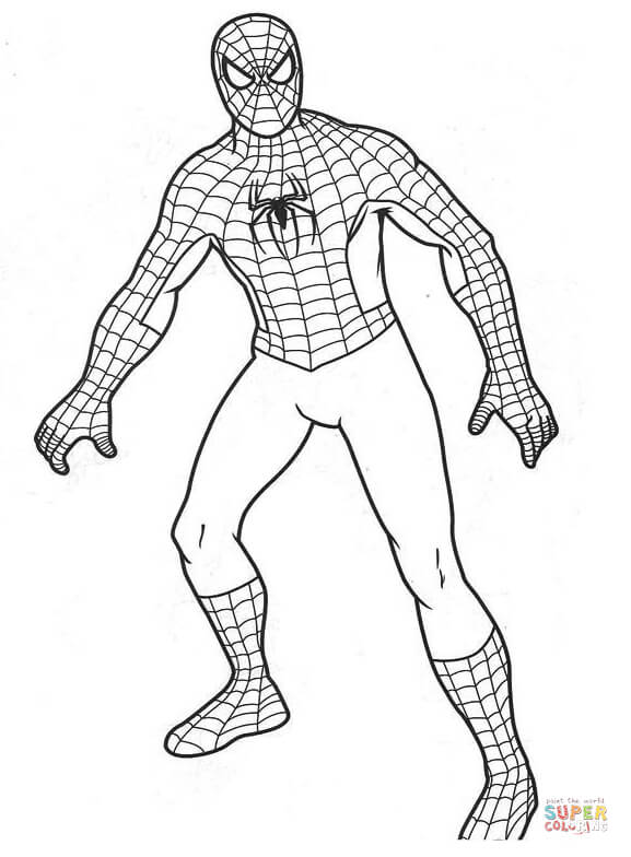 spiderman coloring free printable spider man cracking the secret code drawing henna coloring pages Spider Man Coloring Page