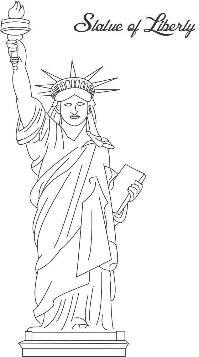 statue of printable coloring for kids favorite color definition colour toddler markers coloring pages Statue Of Liberty Coloring Page