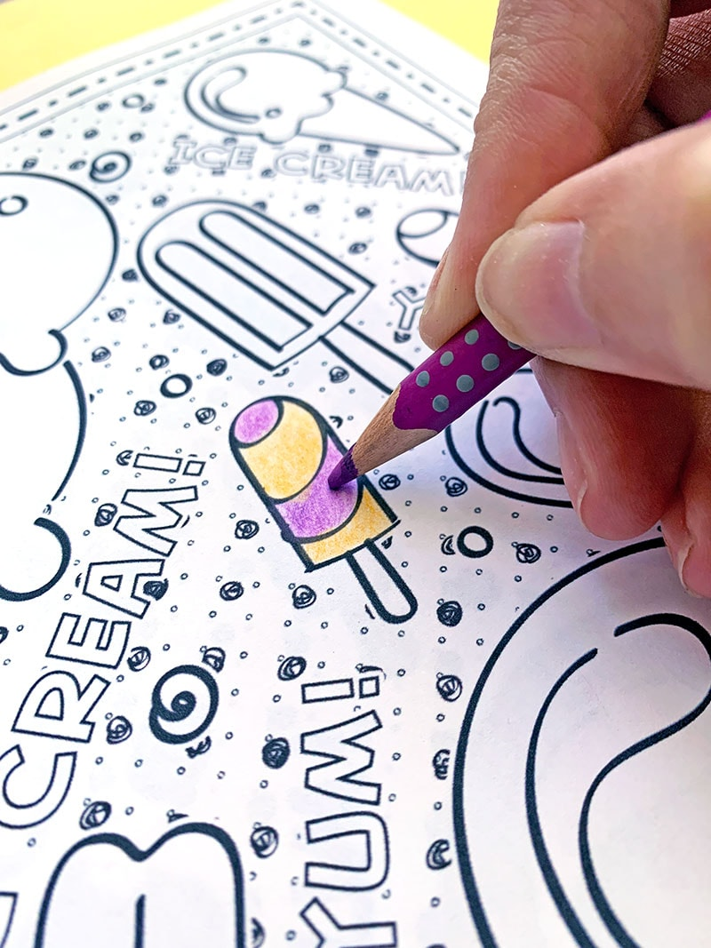summer coloring and printables directions family fun ice cream closeup jen goode robins coloring pages Summer Coloring Page