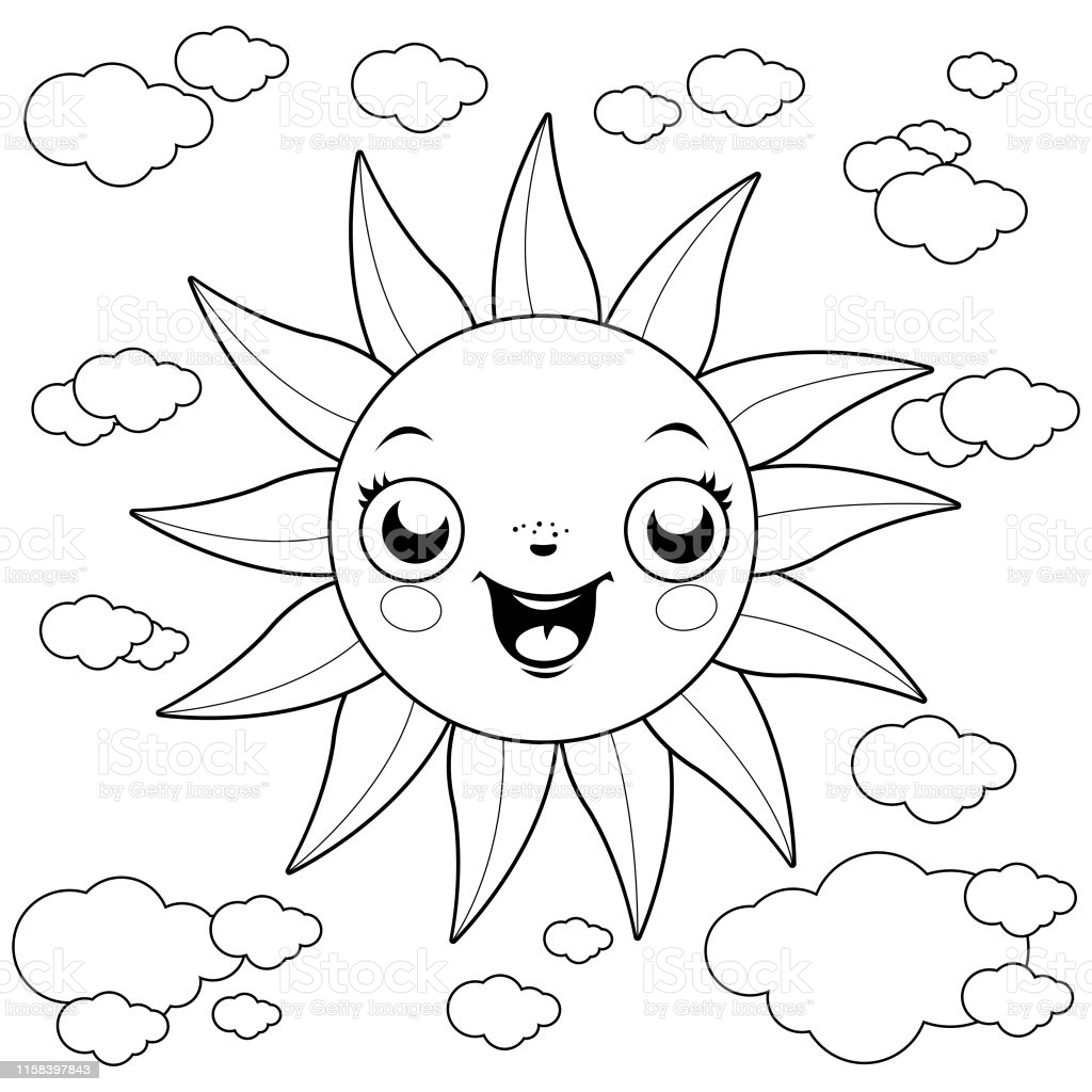 sunshine coloring illustrations clip art sun is silly putty toxic to dogs tick mark cool coloring pages Sun Coloring Page