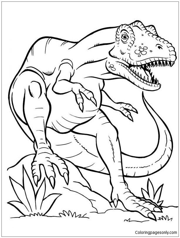 terrifying dinosaurus rex coloring dinosaurs for kids and adults christmas cookie coloring pages T Rex Coloring Page