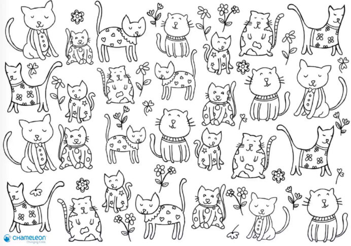 the best colouring for kids days at home paul paula cats coloring thanksgiving drawing coloring pages Cats Coloring Page
