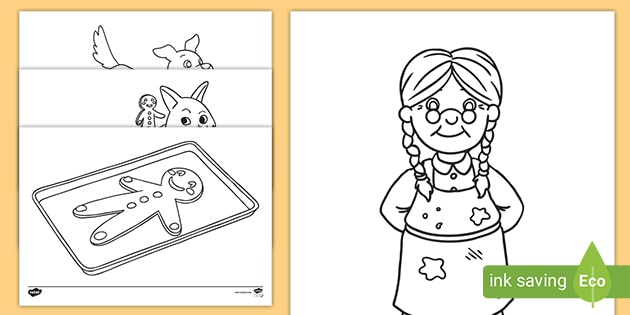 the gingerbread man colouring coloring ver pumpkin coloringpage characters numbers paeg coloring pages Gingerbread Coloring Page