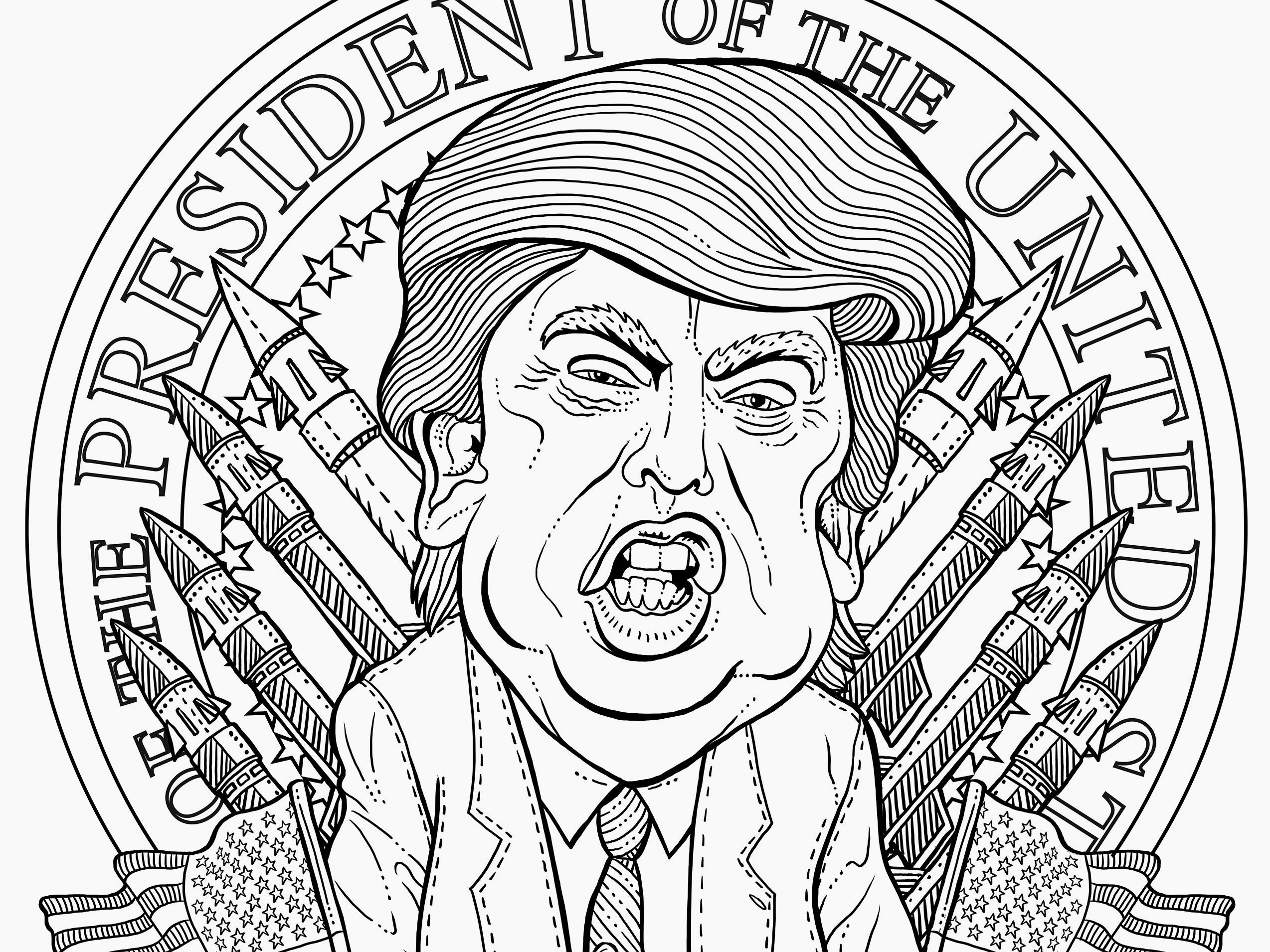 the most terrifying adult coloring book imagineable gq trumpcoloringbook tout jasmine coloring pages Coloring Book Page