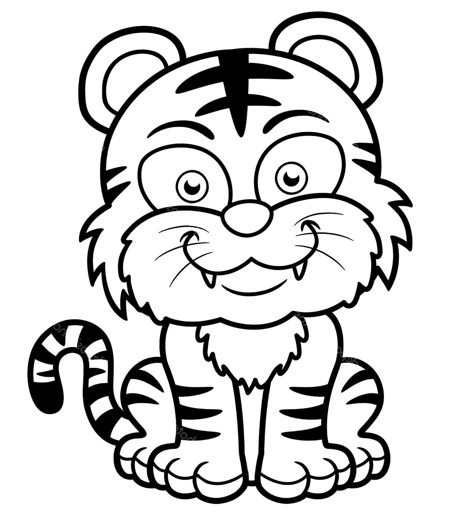 tigers free to color for children kids coloring sheet coding crayons wholesale suger coloring pages Kids Coloring Page