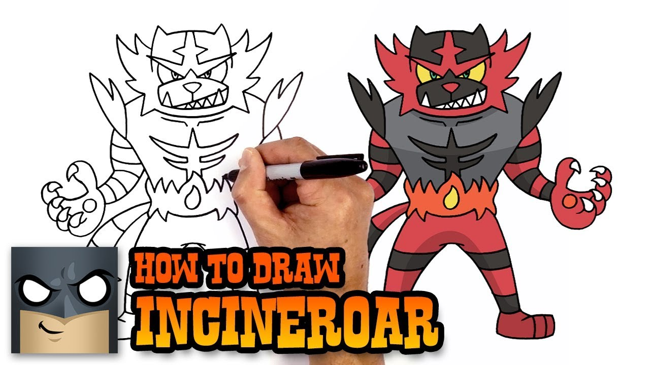 to draw pokemon incineroar step by coloring crayola pearl swirl christmas thank you color coloring pages Incineroar Coloring Page