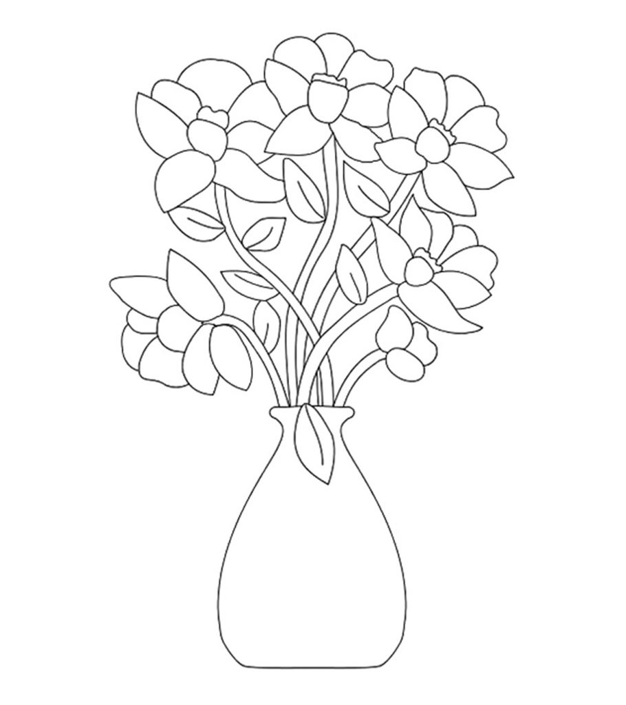 top free printable flowers coloring 910x1024 islam pillars activity kids optical coloring pages Coloring Page Flowers
