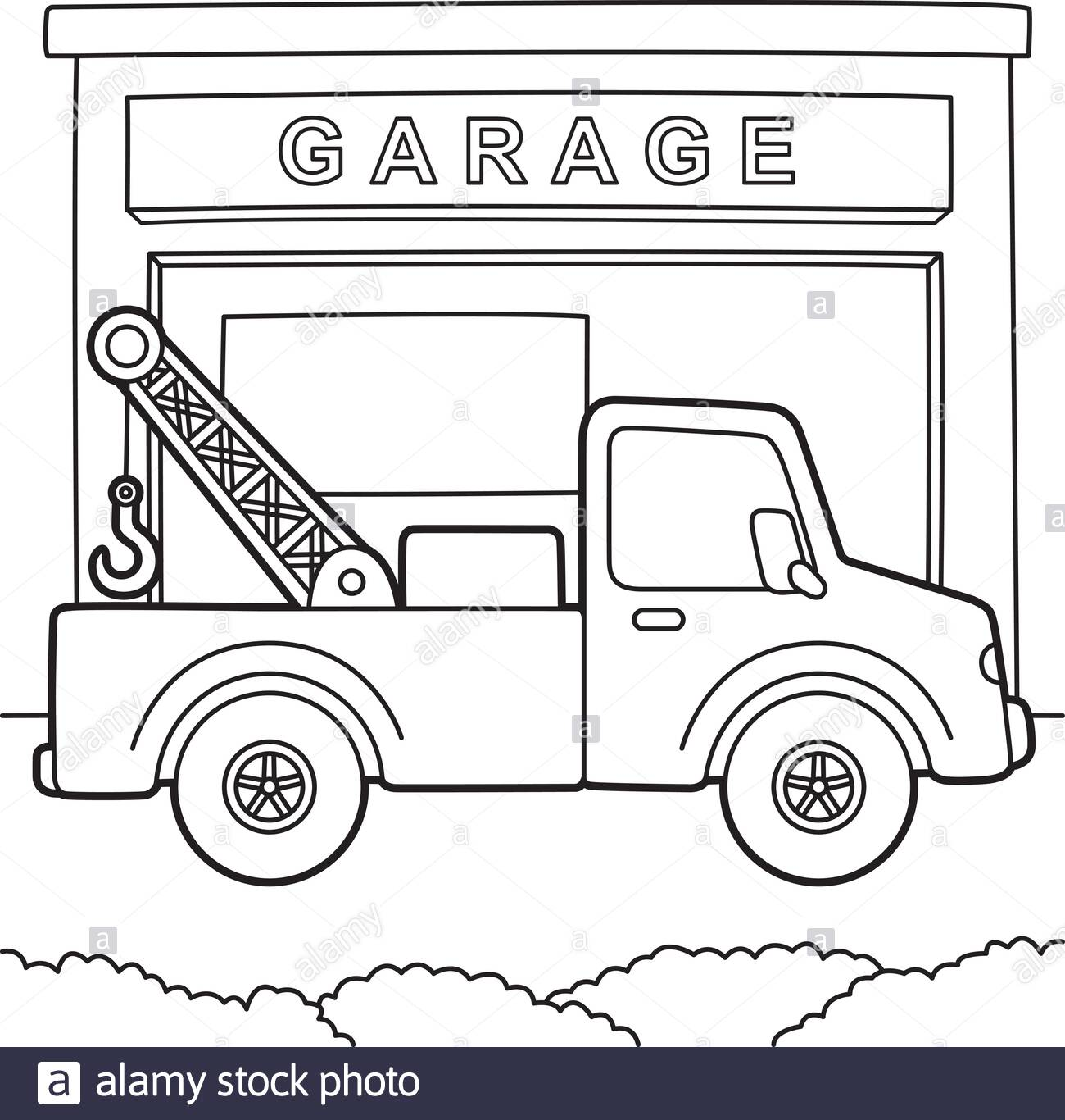 tow truck coloring stock vector image art 2e2kkfx color books panda colouring pictures coloring pages Truck Coloring Page