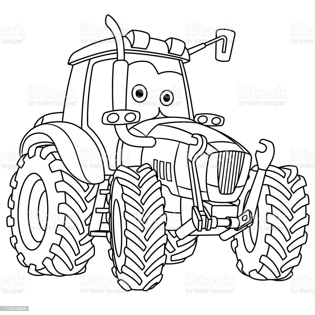 tractor coloring illustrations clip art kids girls to color printable ecuadorian emblem coloring pages Tractor Coloring Page