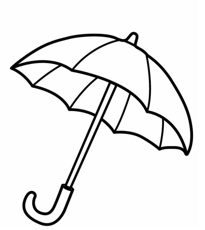 umbrella coloring sheet for kids spring sheets train to color thanksgiving cards coloring pages Umbrella Coloring Page