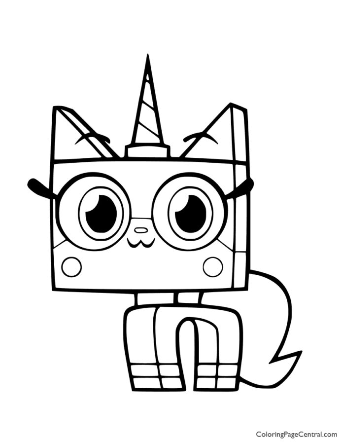 unikitty coloring central tangram template kids party favors virtual fashion designer coloring pages Unikitty Coloring Page