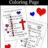 valentine coloring with john quote roaming rosie free valentines printable hard christmas coloring pages John 3:16 Coloring Page