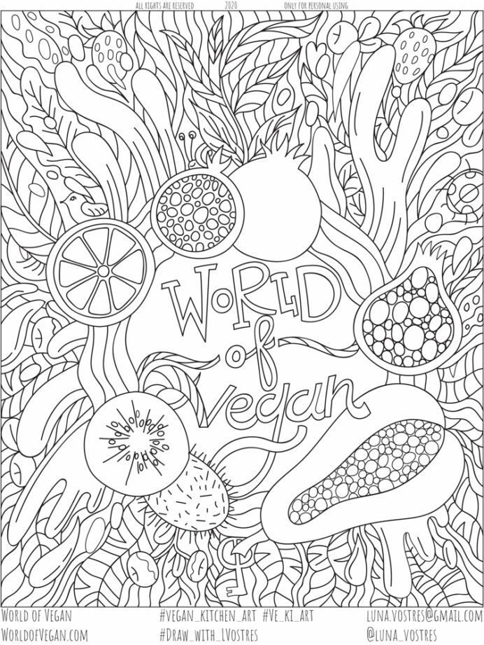 vegan coloring free printable activity for adults kids downloadable world of snowman to coloring pages Coloring Page Printable