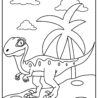 velociraptor coloring updated permanent fabric pen crayola phone number storage box coloring pages Velociraptor Coloring Page