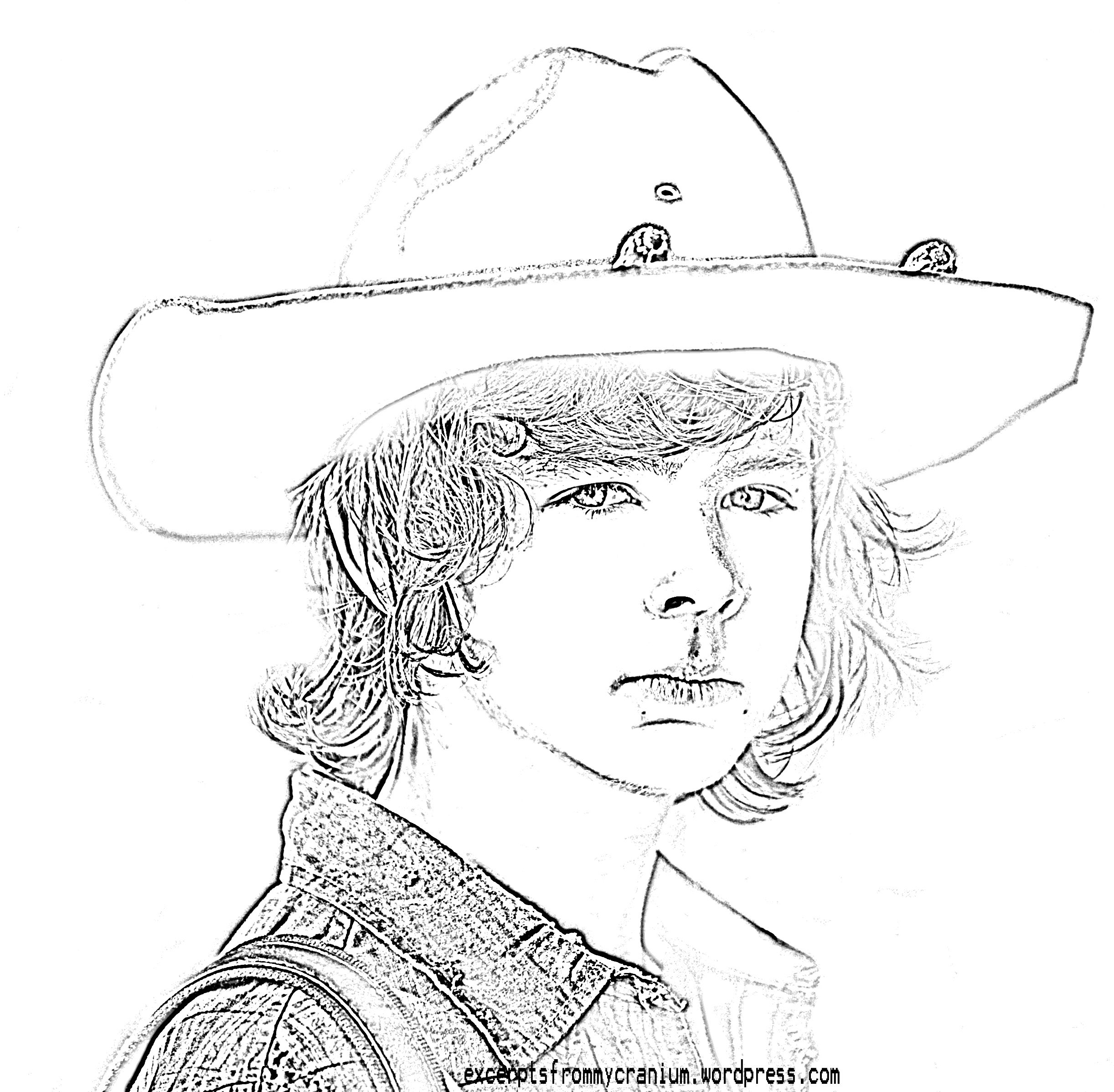 walking carl coloring the logo mermaid book cat birthday theme rainbow crayon split coloring pages Walking Dead Coloring Page