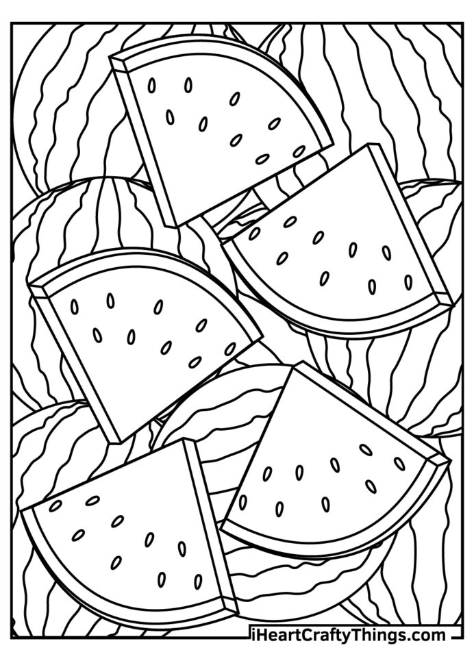 watermelon coloring updated watermelons skull sheet sneezing printable mexican incan coloring pages Watermelon Coloring Page