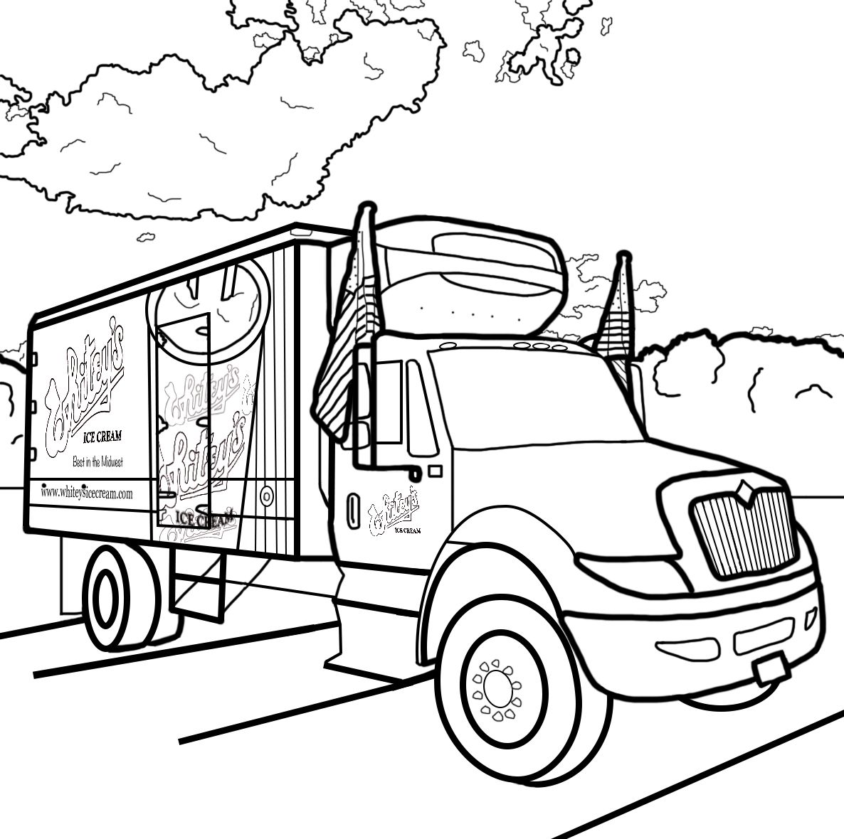whitey ice cream coloring truck final halloween sheets free map pictures the kindergarten coloring pages Ice Cream Truck Coloring Page