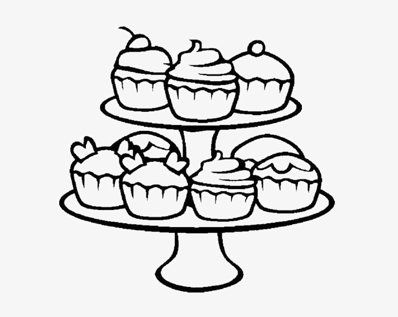 wide range of cupcake coloring sheets cupcakes free transparent pngkey easter bunny craft coloring pages Cupcake Coloring Page