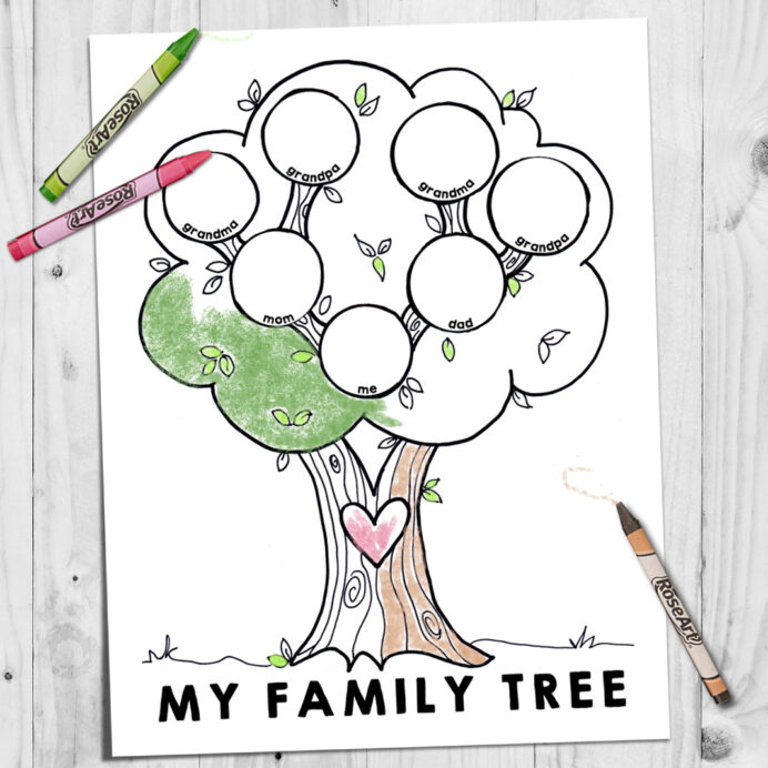 year of fhe lds coloring my family tree page02 umbrella drawing in color thamksgiving diy coloring pages Family Tree Coloring Page