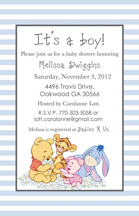 adorable winnie the pooh baby shower invitations for boys bear invitation templates free coloring pages Free Winnie The Pooh Baby Shower Invitations Printable