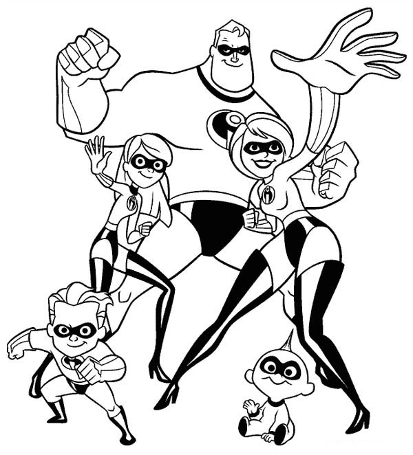 adventures of superhero family the incredibles coloring free printables mr incredible coloring pages Mr Incredible Coloring Page