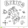 africa continent kids map coloring stock illustration of lion isolated thin markers coloring pages Map Coloring Page