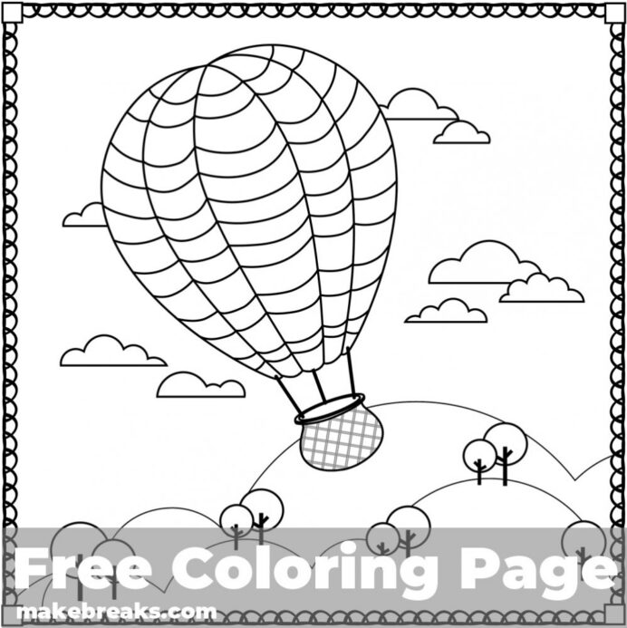 air balloon coloring make breaks airballoon free hippo trending crafty dyi washable coloring pages Balloon Coloring Page