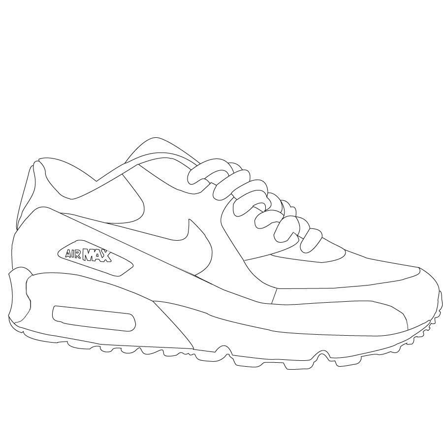 air shoes coloring sheets sneakers drawing curvy petite fashion sneaker art shoe the coloring pages Jordan Shoe Coloring Page