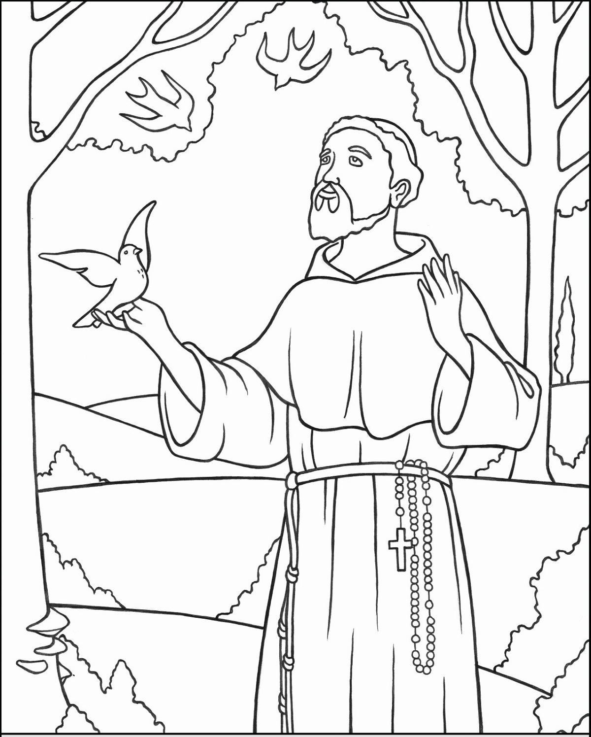 all saints coloring activity shelter kids disney princesses print dolphin hulk color by coloring pages All Saints Day Coloring Page