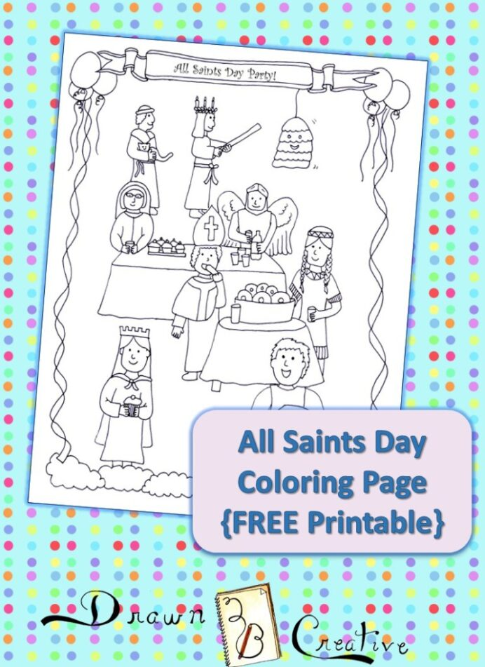 all saints coloring drawn2bcreative thumnail 745x1024 super cool outline disney coloring pages All Saints Day Coloring Page