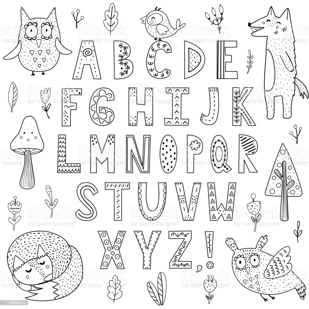 alphabet coloring illustrations clip art jokes about painting set easel colored turkeys coloring pages Alphabet Coloring Page