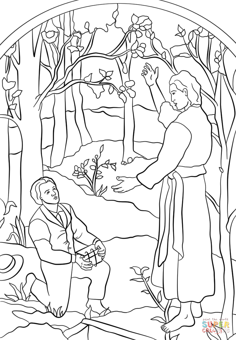 angel moroni visits joseph coloring the yellow scrubbie back to school package complex coloring pages The Angel Visits Joseph Coloring Page