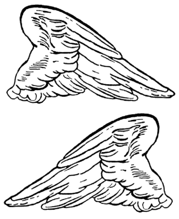 angel wings coloring clip art library wing btakkbdyc chritams stationary to color coloring pages Angel Wing Coloring Page